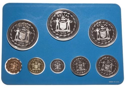 """Белиз набор 1976 г., PROOF, """"Королева Елизавета II (1973 - 2017)"""""""