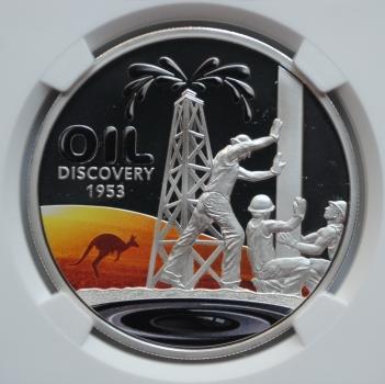 Ниуэ 1 доллар 2013 г., NGC PF69, '60-лет открытия нефти в Австралии'