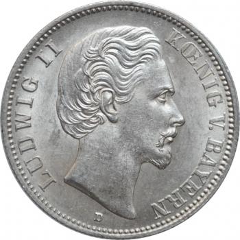 """Бавария 2 марки 1876 г., BU, """"Король Людвиг II (1864 - 1886)"""""""