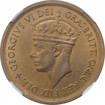 """Британская Западная Африка 2 шиллинга 1952 г. H, NGC MS63, """"Король Георг VI (1937 - 1952)"""""""