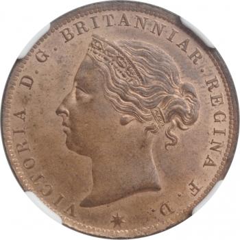 "Джерси 1/24 шиллинга 1894 г., NGC MS64 RB, ""Королева Виктория (1841 - 1901)"""