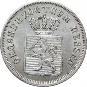 """Гессен-Дармштадт 6 крейцеров 1847 г., UNC, """"Великий герцог Людвиг II (1830 - 1848)"""""""