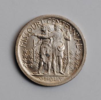 """США 50 центов 1921 г., AU, """"100 лет штату Миссури"""""""