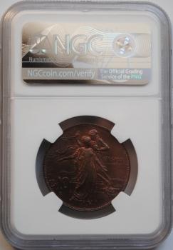 Италия 10 чентезимо 1911 г., NGC MS64 BN, '50 лет Королевству'