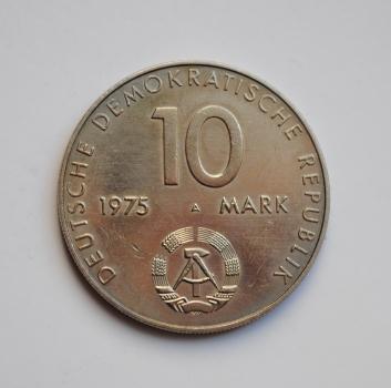 ГДР 10 марок 1975 г., 'ГДР 10 марок 1975 г., '20 лет Варшавскому Договору'
