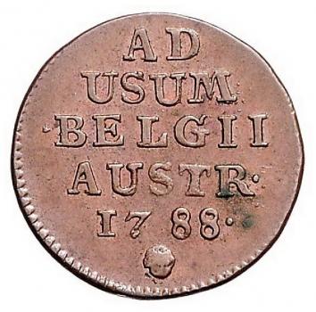 "Австрийские Нидерланды 1 лиард 1788 г., AU, ""Император Иосиф II (1765 - 1790)"""