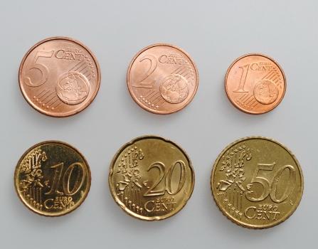 "Монако 1, 2, 5, 10, 20, 50 евроцентов 2001 г., UNC, ""Ренье III (ЕС) (2001 - 2005)"""