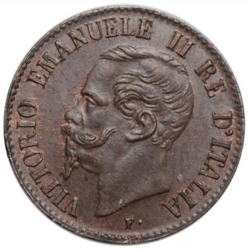 """Италия 1 чентезимо 1867 г. M, UNC BN, """"Король Виктор Эммануил II (1861 - 1878)"""""""