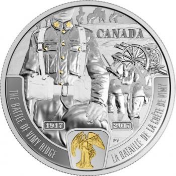 """Канада 20 долларов 2017 г., PROOF, """"Первая мировая война: Битва при Вими-Ридж"""""""