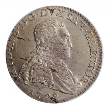"""Саксония 1/12 талера 1792, UNC, """"Викарий Фридриха Августа III"""""""