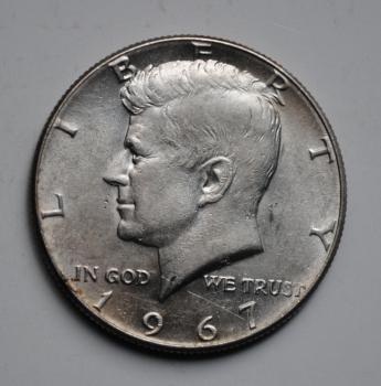 США 50 центов 1967 г., XF-AU