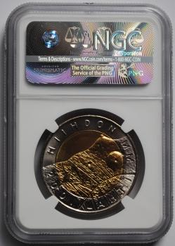 Финляндия 25 марок 2001 г., NGC PL67, 'Чемпионат мира по лыжным видам спорта'