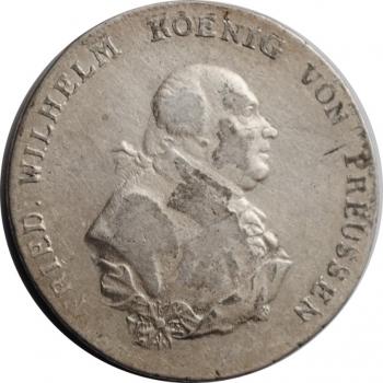 Пруссия 1 талер 1796 г., VF, 'Король Фридрих Вильгельм II (1786 - 1797)'