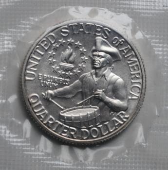 США 25 центов 1976 г. S, UNC, '200 лет независимости США'