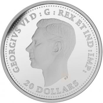 """Канада 20 долларов 2017 г., PROOF, """"Вторая мировая война: битва при Дьепе"""""""