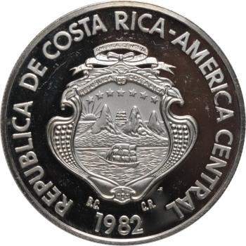 """Коста-Рика 250 колонов 1982, PROOF, """"Ягуар"""""""