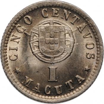 """Ангола 5 сентаво 1927 г., BU, """"Португальская колония (1921 - 1974)"""""""