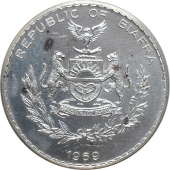 """Биафра 1 фунт 1969 г., UNC, """"Республика Биафра (1967 - 1970)"""""""