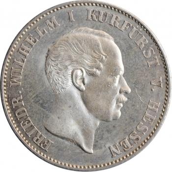 """Гессен-Кассель 1 союзный талер 1865 г., BU, """"Курфюрст Фридрих Вильгельм I (1847 - 1866)"""""""