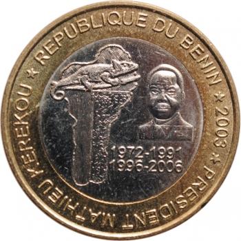 """Бенин 6000 франков 2003 г., UNC, """"Президент Матьё Кереку"""""""