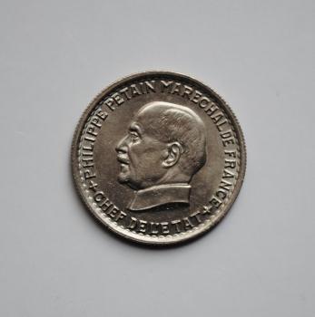 Франция 5 франков 1941 г., UNC, 'Маршал Филипп Петен'