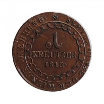 """Австрия 1 крейцер 1812 г. S, UNC, """"Император Франц II (1806 - 1835)"""""""