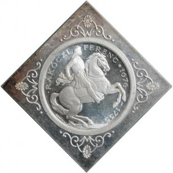 """Венгрия 2 пенго 1935 г., PROOF KLIPPE RESTRIKE, """"200 лет со дня смерти Ференца II Ракоци"""""""
