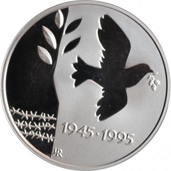 """Норвегия 50 крон 1995 г., PROOF, """"50 лет окончанию Второй Мировой войны"""""""