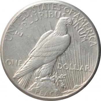 """США 1 доллар 1927 г., XF, """"Мирный доллар"""""""