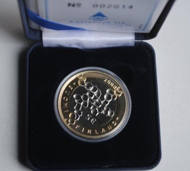 Финляндия 5 евро 2008 г., PROOF, '100 лет науке и исследованиям'