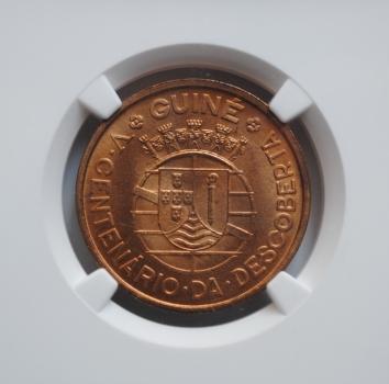 Гвинея-Бисау 1 эскудо 1946 г., NGC MS64, '500 лет открытию Гвинеи'