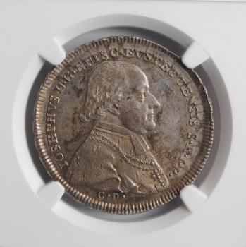 Епископство Айхштадт ½ талера 1796 г., NGC MS62, 'Йозеф фон Штубенберг (1790 - 1802)'