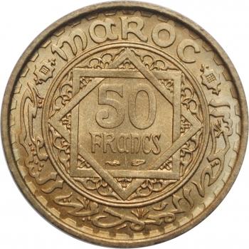 """Марокко 50 франков 1952 г., BU, """"Французский протекторат (1921 - 1956)"""""""