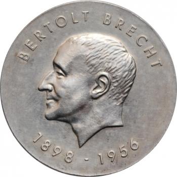 """ГДР 10 марок 1973 г., UNC, """"75 лет со дня рождения Бертольта Брехта"""""""