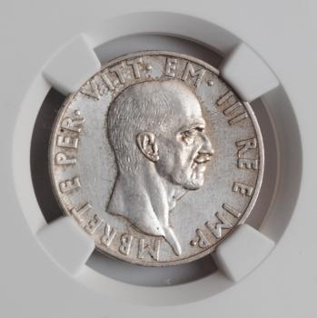 """Албания 10 леков 1939 г., NGC UNC, """"Итальянская оккупация (1939 - 1943)"""""""