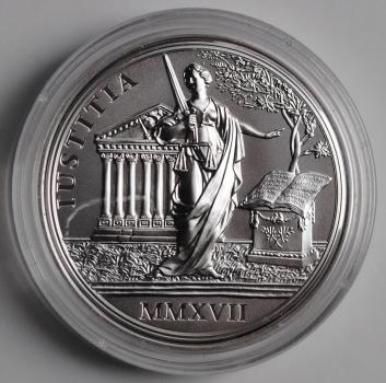 Австрия 20 евро 2017 г., PROOF, '300 лет со дня рождения Марии Терезии - Правосудие'
