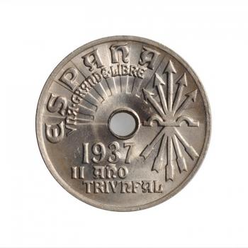 """Испания 25 сентимо 1937 г., BU, """"Вторая Республика (1931 - 1939)"""""""