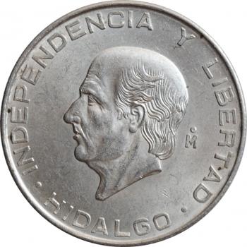 """Мексика 5 песо 1956 г., UNC, """"Мигель Идальго-и-Костилья"""""""
