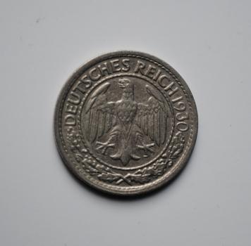 Германия 50 пфеннигов 1930 г. G, VF-XF, РЕДКАЯ