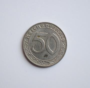 Германия 50 рейхспфеннигов 1939 г. E, 'Нацистская Германия (1933-1945)'