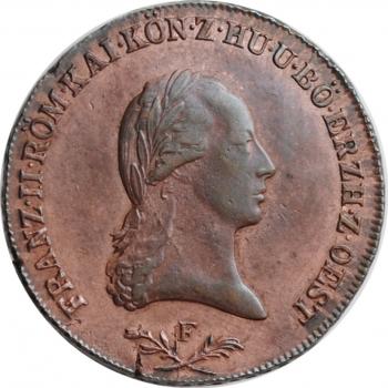 """Австрия 6 крейцеров 1800 г. F, UNC, """"Император Франц II (1792 - 1835)"""""""