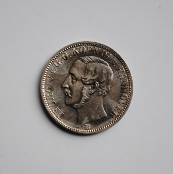 Ганновер 1/6 талера 1860 г., XF, 'Король Георг V (1851 - 1866)'