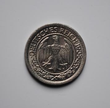 Германия 50 пфеннигов 1938 г. G, UNC, ОЧЕНЬ РЕДКАЯ