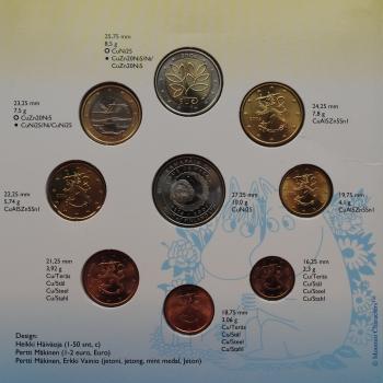 """Финляндия набор евро монет 2004 г., BU, """"Вступление в Европейский союз 10-ти новых государств"""""""