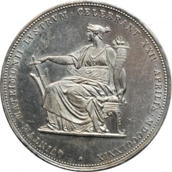 Веймар 3 марки 1929 г., UNC, 'Объединение Вальдека и Пруссии'