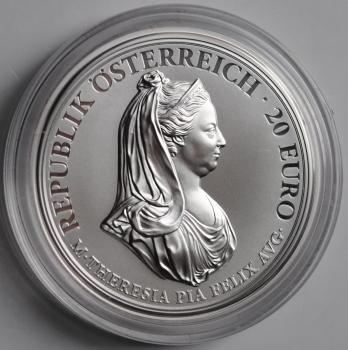 Австрия 20 евро 2018 г., PROOF, '300 лет со дня рождения Марии Терезии - Помилование'