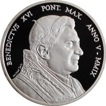 """Ватикан 10 евро 2009 г., PROOF, """"80 лет городу-государству Ватикан"""""""