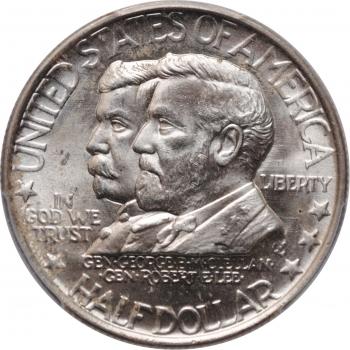 """США 50 центов 1937 г., PCGS MS64, """"75 лет Сражению при Энтитеме"""""""