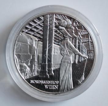 Австрия 20 евро 2008 г., PROOF, 'Венский северный вокзал' (капсула)