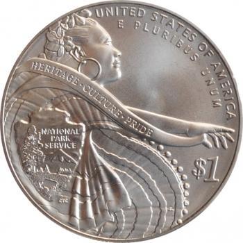 """США 1 доллар 2016 г., BU, """"100 лет Службе национальных парков США"""""""